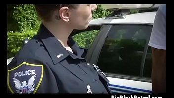 white female cops suckin black dink outdoors by.