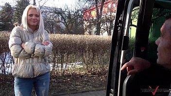 slutty czech blonde loves a big cock in.