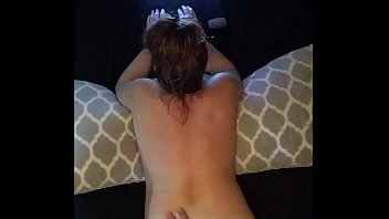 fucking horny housewife as she chats.