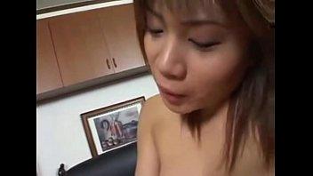 asian lesbian double dildo