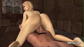 animated 3d horny blonde hardcore sex