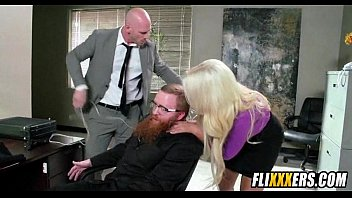 giant blonde milf tits and office.