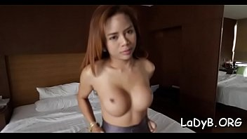 thai transsexual gives a blow and experiences coarse.