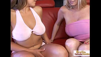luscious blonde talks her friend into some lesbian.