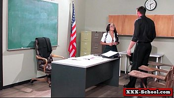 horny big tit teacher gets a good fucking.