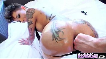 big butt oiled girl (bella bellz) get anal.