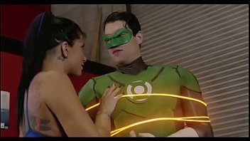superhero league green lantern and princess.