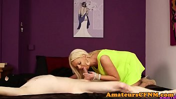 british cfnm milf blows intruders dick