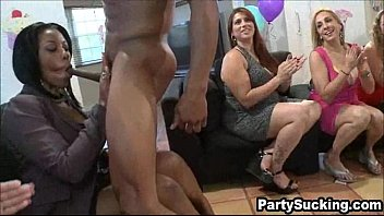 sucking bbc at birthday party