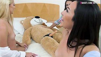 bffs fucking teddy bear with strap.