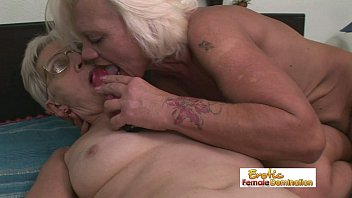 nasty grannies having lesbian sex in the old.