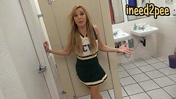 blond girl female desperation &amp_ peeing.