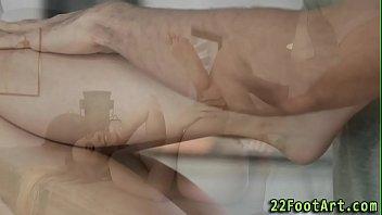 foot fetish hottie cummed