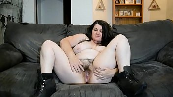 chubby hairy huge boobs spreading cunt and butt.