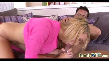 husband and wife fuck the babysitter.