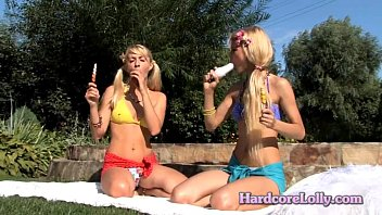 two blonde bitches, teasing
