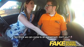 fake driving school posh freaky redhead with big.
