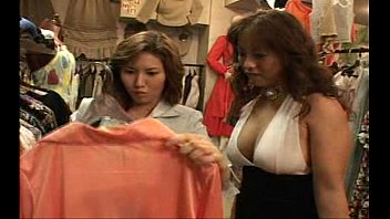 lesbian asian girls kissing in changing.