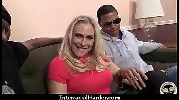 fingering high heels slut interracial black white couple.