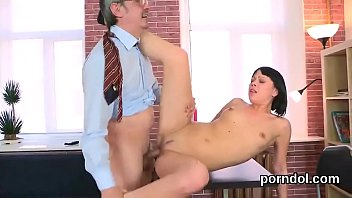 natural schoolgirl is seduced and shagged by her.