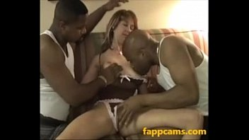 32-slutty white mom creampied by two.