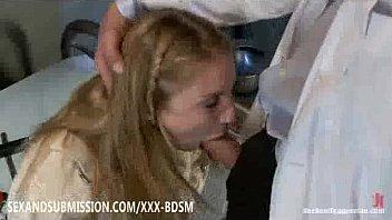tied blonde experiencing sexual fantasies to.