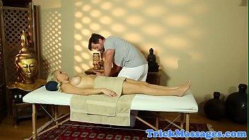 gorgeous babe fucked on the massage.