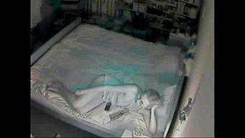 my mum masturbating on bed caught by hidden cam
