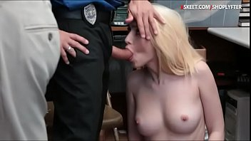 blondie thief detained and pounded hard