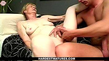 old granny enjoys fingering