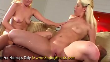 two young girlfriends share their first big black cock
