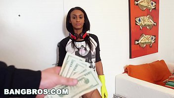 bangbros - sexy black maid ended up cleaning.