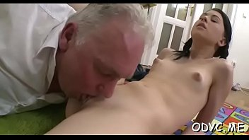 young dilettante babe sucks and fucks an mature.
