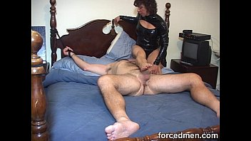 mistress hardens horny man'_s cock just by teasing.
