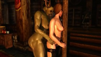 3d toon- orc milf dominating human milf with.