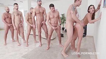 7on1 dap gangbang with balls deep anal princess.