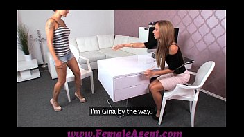 femaleagent amazing first lesbian casting for.
