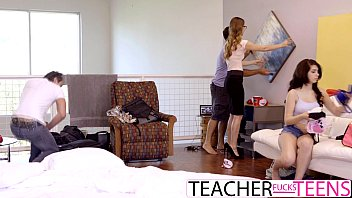 slutty teen caught by teacher with.