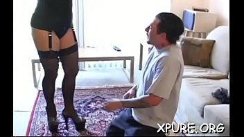 older guy gets dominated by a couple of.