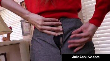 busty milf julia ann bangs her hot pussy.