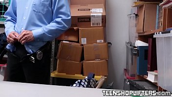 teen bimbo punished in detectives office.