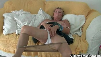 matemature.com # horny blonde with huge tits strips.