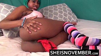 stuffing panties ebony pussy extreme finger fuck sideways.