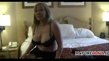 blonde woman shows off her big.