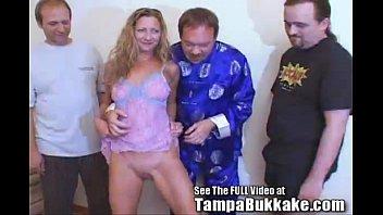slut wife sherry'_s group sex tampa bukkake slumber party!