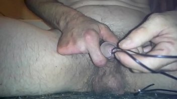 deep double wire insertion in penis
