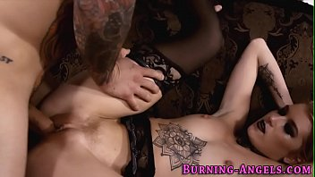 tattooed babe riding cock