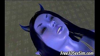 big breasted 3d avatar alien getting.