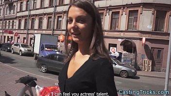 petite casting beauty receives creampie