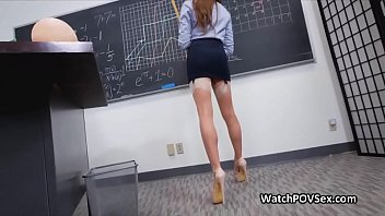 pov anal in classroom with hot.
